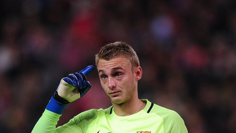 Barcelona goalkeeper Jasper Cillessen is a reported target for Liverpool and Chelsea
