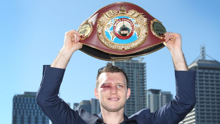 Jeff Horn won the WBO welterweight belt with victory over Pacquiao earlier this month