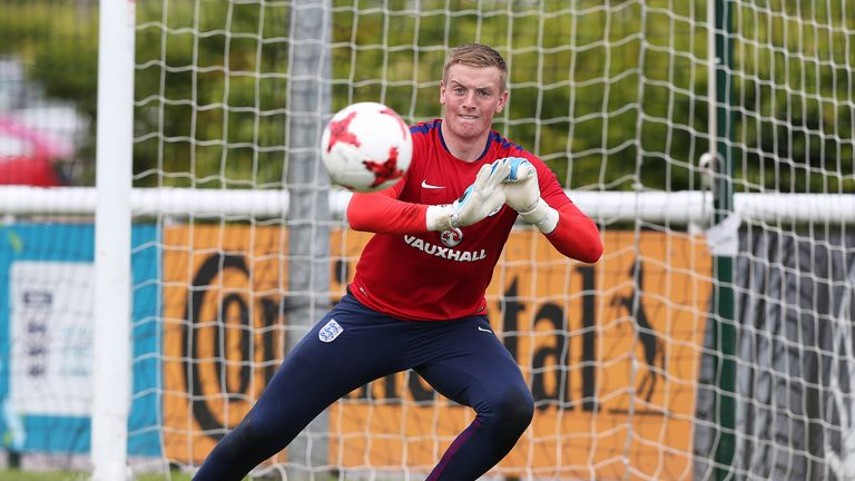 Jordan Pickford has also been called up to the senior squad for the first time