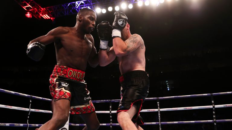 Lawrence Okolie extended his run of first round knockout victories