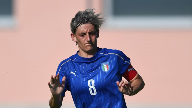 Melania Gabbiadini - sister of Southampton's Manolo - remains Italy's big goal threat