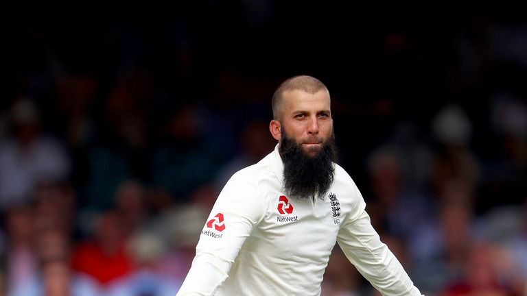 Moeen Ali celebrates one of his 10 wickets for England in the first Test victory over South Africa. Watch the rest of the series live on Sky Sports