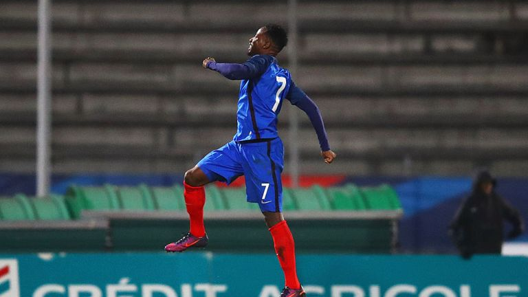Moussa Dembele was in goal-scoring form for France U21s