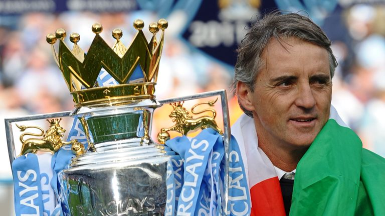 Roberto Mancini won the Premier League with Manchester City