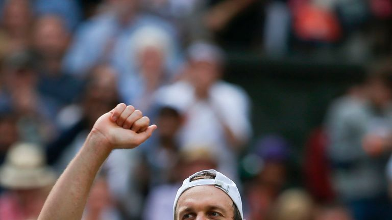 Sam Querrey will play Marin Cilic on Friday for a place in the Wimbledon final