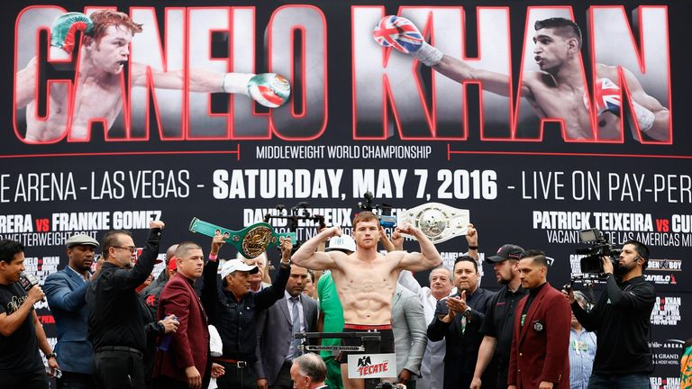 A Las Vegas weigh-in has become a typically extravagant occasion