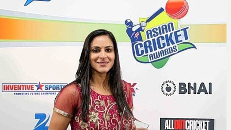 Sonia Odedra was named Woman in Cricket at 2015 Asian Cricket Awards