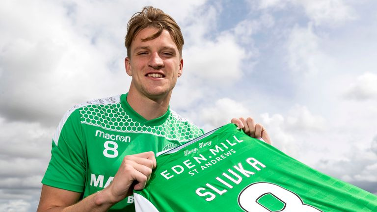 Hibernians new signing Vykintas Slivka.