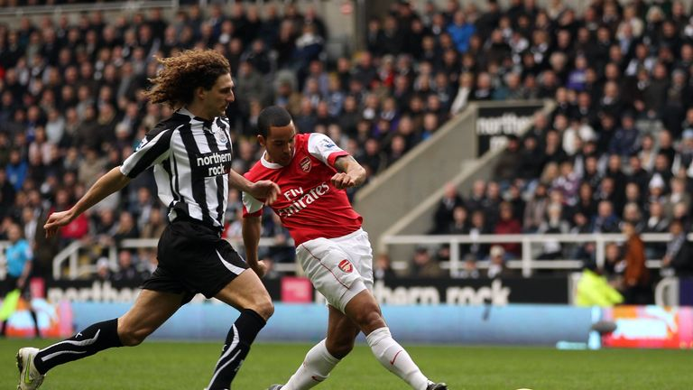 Theo Walcott opened the scoring within a minute against Newcastle in 2011 before Arsenal proceeded to go 4-0 up, but ended up drawing the game 4-4