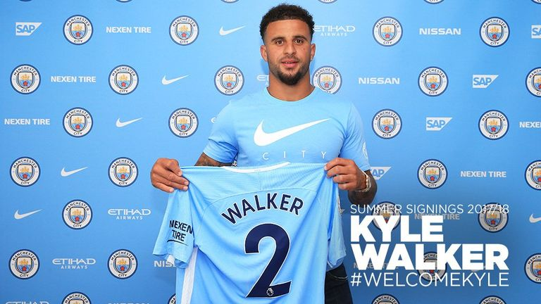 Kyle Walker joined City for a fee in excess of £50m from Tottenham
