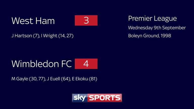 West Ham 3-4 Wimbledon