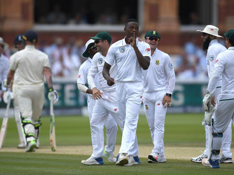 Rabada removed Ben Stokes for the second time as England collapsed on the fourth morning