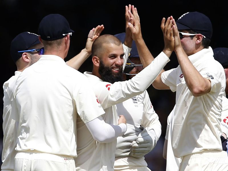Moeen Ali also collected two wickets as South Africa ended the day on 214-5