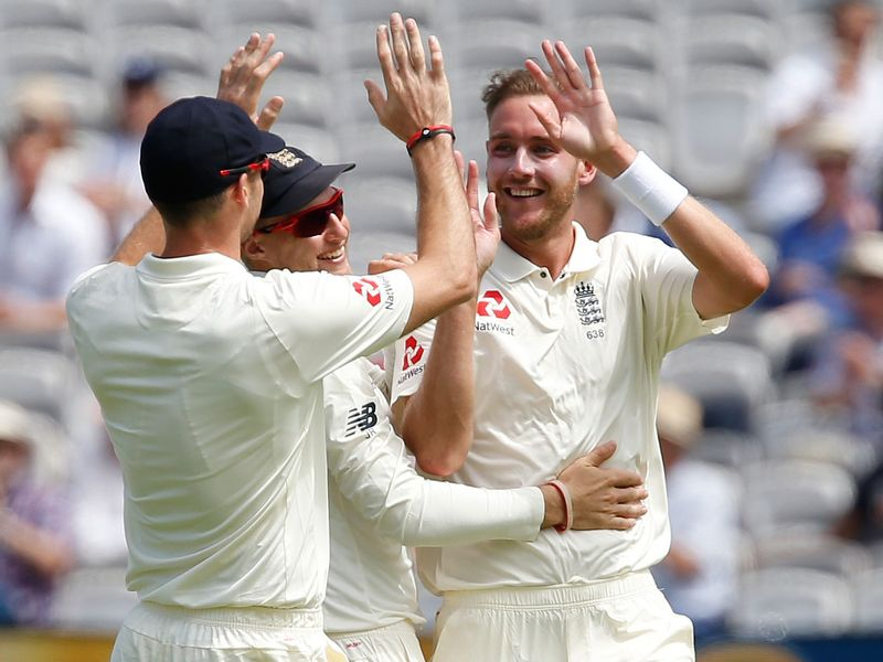 Broad also picked up two wickets on Friday as South Africa's first innings started