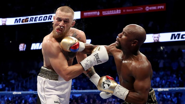 McGregor's last fight was in the boxing ring against Floyd Mayweather