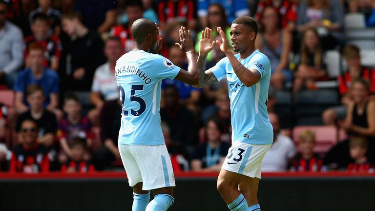 Jesus says he has benefited from having his compatriot Fernandinho alongside him at City