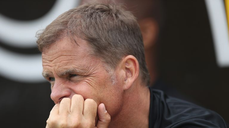 Frank de Boer is looking to change Crystal Palace's playing style this season