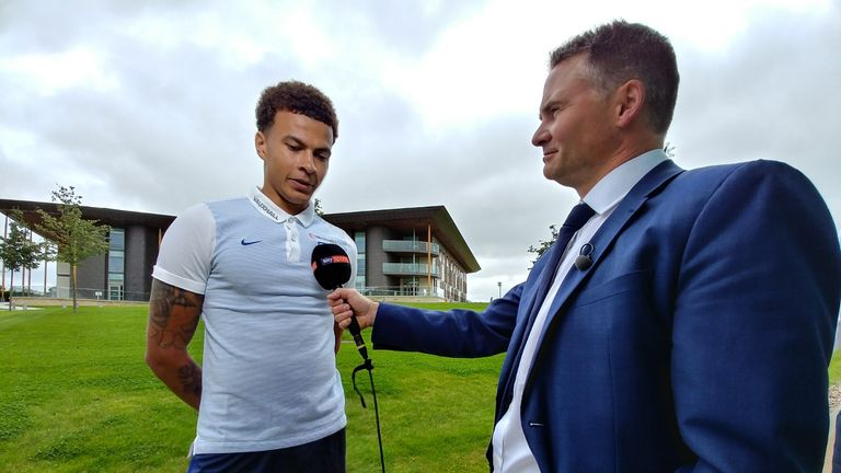 Dele Alli was speaking exclusively to Sky Sports at the England training centre