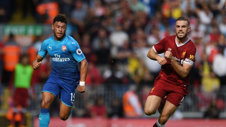 Alex Oxlade-Chamberlain played for Arsenal in the 4-0 defeat at Liverpool earlier in the season