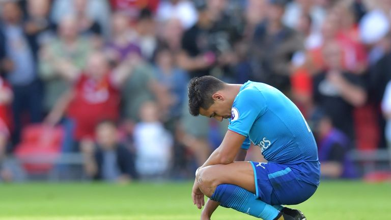 Alexis Sanchez has thrown the towel in recently, according to Gary Neville