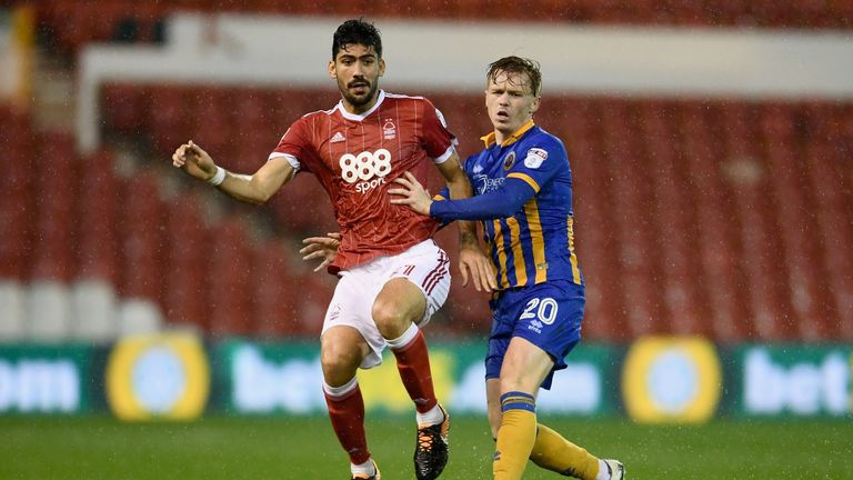 Andreas Bouchalakis scored twice as Forest won by the odd goal in seven