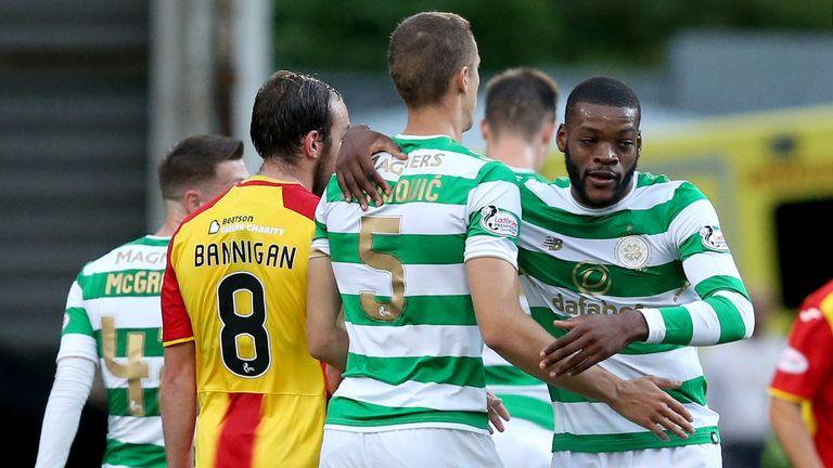 Celtic's Olivier Ntcham celebrates scoring
