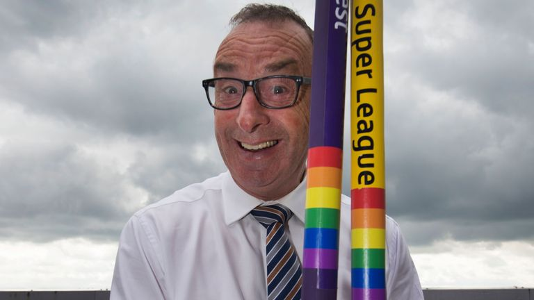 Commentator and former England cricketer David Lloyd shows his support for the Rainbow Laces campaign