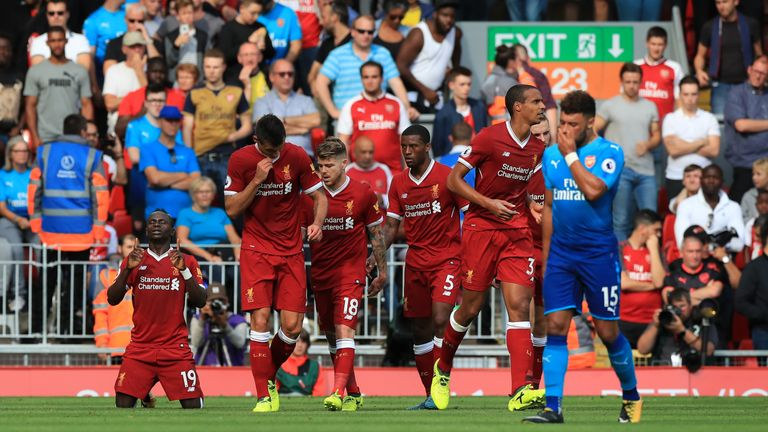Liverpool beat Arsenal 4-0 when they faced off at Anfield in August