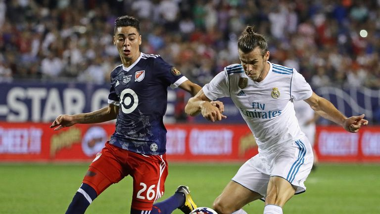 Miguel Almiron was included in the MLS All-Stars team that played Real Madrid in 2017