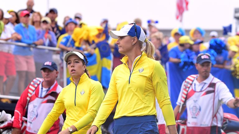 Anna Nordqvist and Georgia Hall won Europe's first point since Friday lunchtime