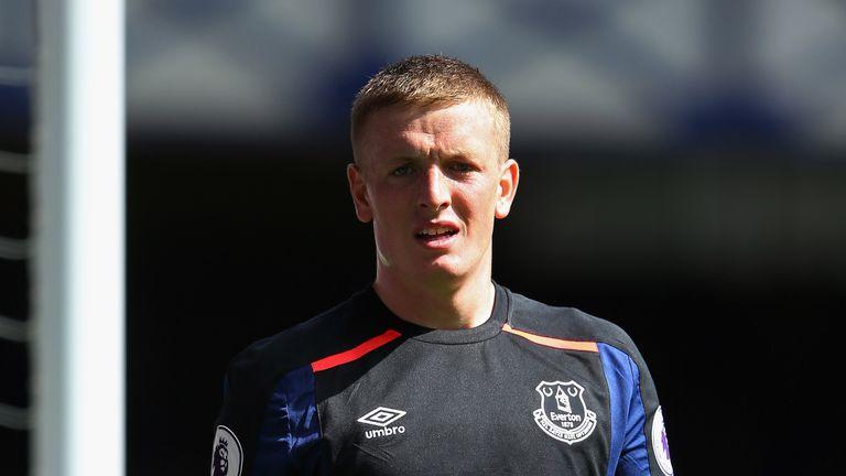 Jordan Pickford has returned to Everton for treatment
