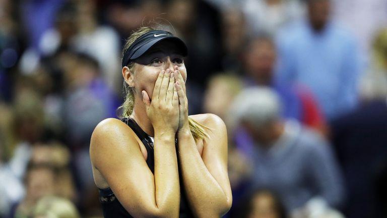Maria Sharapova produced an impressive display to defeat Simona Halep in the US Open first round