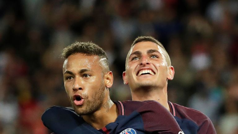 Neymar joined PSG in a world-record £200m deal in the summer