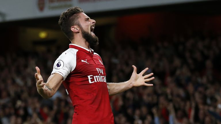 Giroud has scored 73 goals in 179 league appearances for Arsenal since his transfer from Montpellier in June 2012