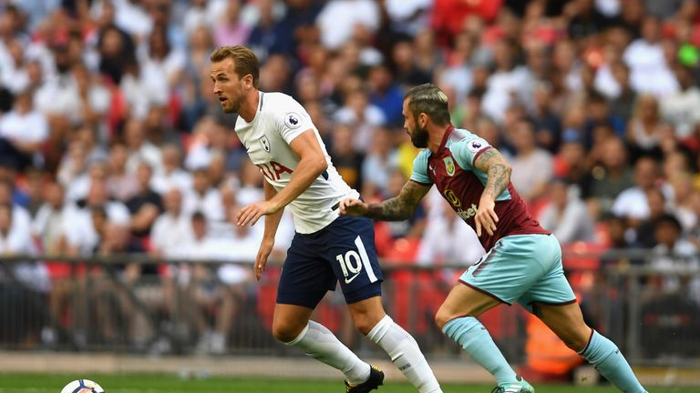 Harry Kane missed a number of chances against Burnley as his lack of goals in August continued