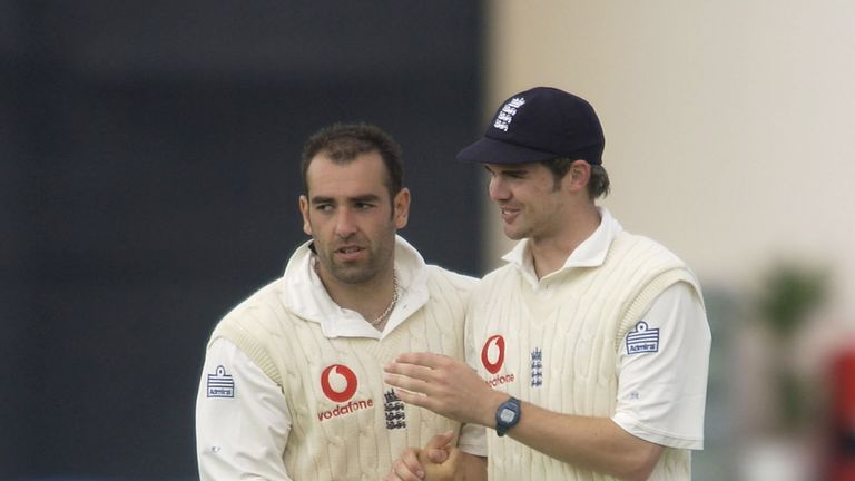Richard Johnson and James Anderson made their England debuts in the same series