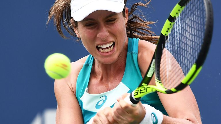 Britain's Johanna Konta in action