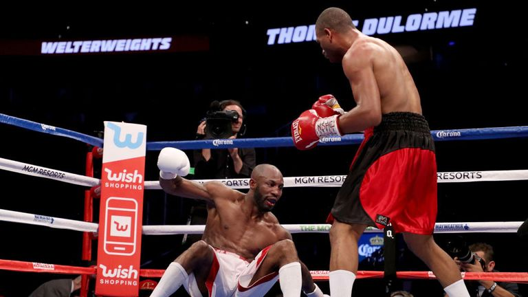 Thomas Dulorme put Yordenis Ugas down in the seventh but was still beaten