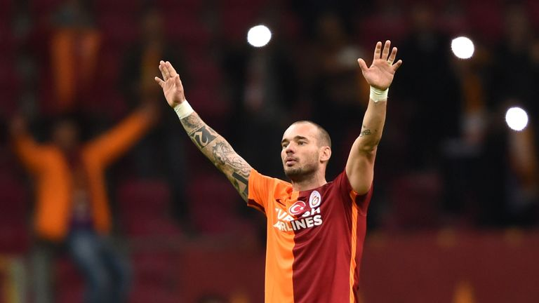 Sneijder joined Turkish side Galatasaray in 2013