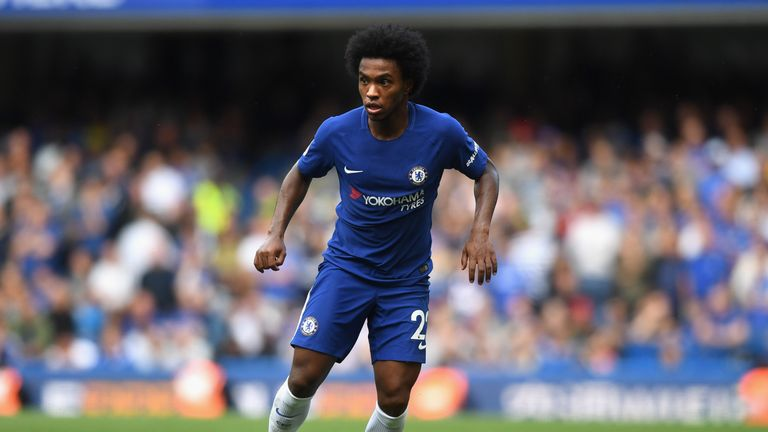 Chelsea are considering the sale of Willian, according to the French press