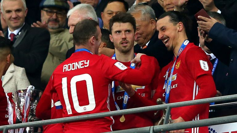 Ibrahimovic will wear the No. 10 shirt formerly worn by Wayne Rooney