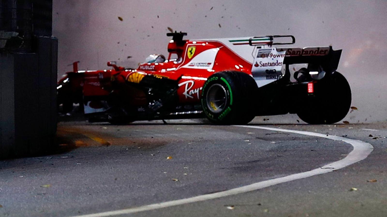 Vettel Hamilton Crash