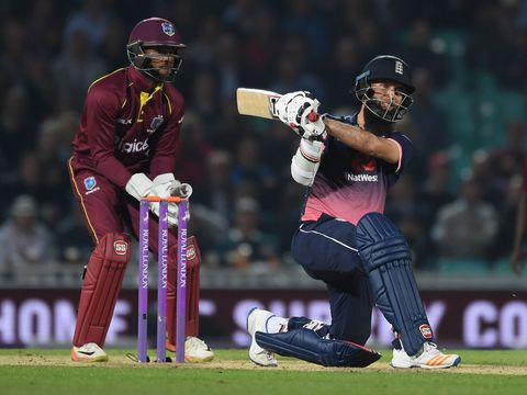 Moeen Ali strikes Ashley Nurse for six to put England in the box seat