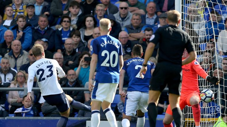 Christian Eriksen scored shortly before the break to give Tottenham a two-goal cushion