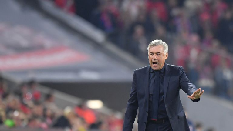 Ancelotti was sacked after a heavy defeat to Paris Saint-Germain