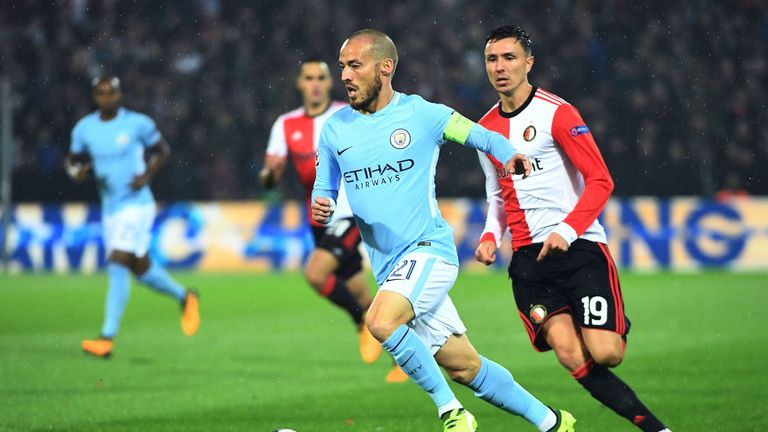 Manchester City cruised to a 4-0 win at Feyenoord