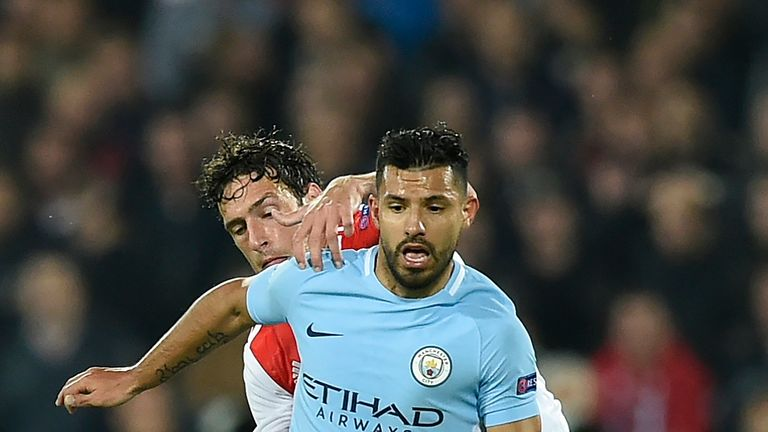 Sergio Aguero scored against Feyenoord earlier in the competition