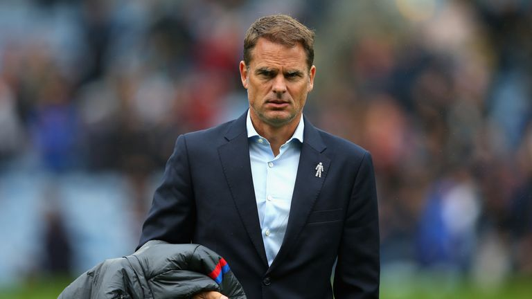 Frank de Boer was sacked as Crystal Palace manager after four games in charge