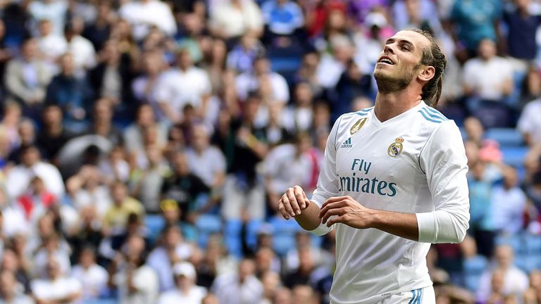 Real Madrid's Gareth Bale has not played since September 26.