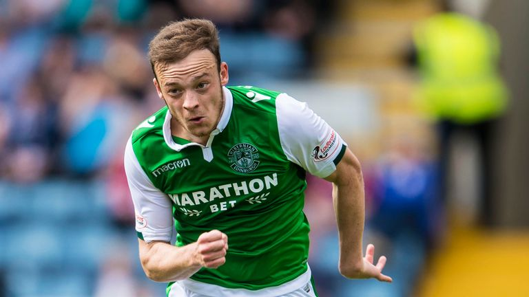 Brandon Barker has made eleven appearances in all competitions for Hibs since joining on-loan from Man City